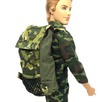 NK Original Prince Doll Knapsack Marines Accessories Bag For Barbie Boy Male Ken Doll For Lanard 1 6 Soldier Best Gift 11C