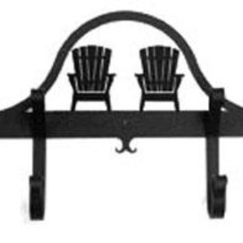 Wrought Iron Hat & Coat Rack - Towel Rack Adirondack Chair
