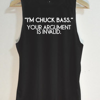 I'm chuck bass Tank Top - Muscle tank - Muscle tee - Tshirt