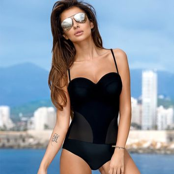 Europe 2019 One Piece Push Up Swimsuit Women Plus Size Swimwear Women's Swimming Suit Strap Bodysuit Sexy Summer Beachwear XXL