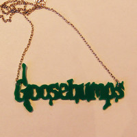 Goosebumps plastic necklace