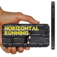 iPhone 5 Case - Pitch Perfect Theme - Horizontal Running - Black Protective Hard Case