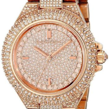 MDIGDC0 MICHAEL KORS MK5862 CAMILLE Rose Gold Pave Crystal Glitz Round Women Watch