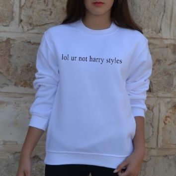 lol ur not harry styles fashion long-sleeved cotton sweater men and women