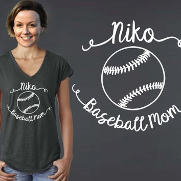 Baseball Mom Personalized T-shirt