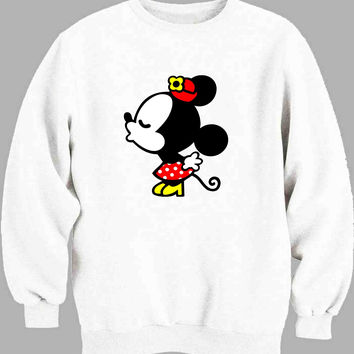 Mickey and Minnie kissing Disney B Sweater for Mens Sweater and Womens Sweater ***
