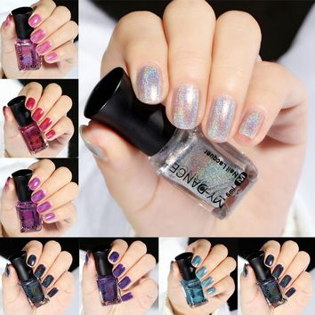 Holographic Laser Nail Polish Mirror Effect Deluxe Galaxy Chameleon Varnish 6ML Nail Gel Polish Glitter Lacquer Quick Dry TSLM1