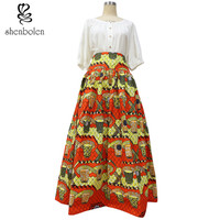 2016 African batik clothing for women Lady African print maxi skirt Ankara skirt  wax clothing super wax 100% cotton no lining