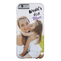 World's best mom upload your photo iphone case