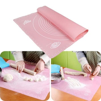 50*40cm Silicone Mat Baking Cakes Pans 100% Non-Stick Silicone Pad Table Grill Pad Jelly Fondant Cooking Plate Kitchen Tools