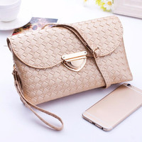 fashion brand women bag women weave pattern leather handbags high quality women wallets small shoulder bags messenger bag