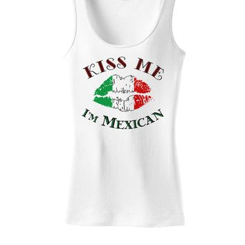 Kiss Me I'm Mexican Womens Tank Top