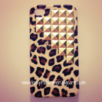 Lions Pride By Meri — Gold Studded Cheetah iPhone 4/4S Case