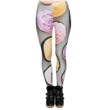 Gray Frosted Cupcake Leggings