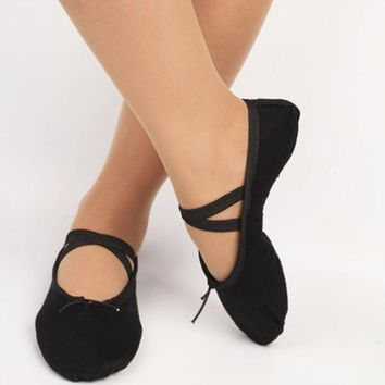 ISMRCL please buy as CM only 23~45 Indoor Cloth head girls soft sole dancing shoes for women's ballet dance shoes jay