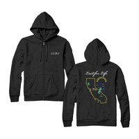 California Lust for Life Zip Hoodie | Apparel | Lana Del Rey