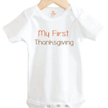 Baby Onesuit // My First Thanksgiving Onesuit // Baby's first // Holiday clothing // Baby Thanksgiving