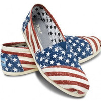 Stars & Stripes Forever Custom TOMS Shoes by ArtisticSoles on Etsy