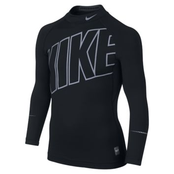Nike Pro Hyperwarm Max Flash Mock Compression Boys' Shirt