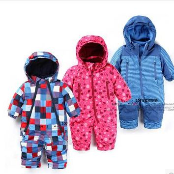 2017new arrival baby rompers autumn and winter , baby boy girl windproof and waterproof coveralls, baby snowsuits, baby clothes