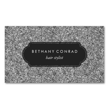 Silver Glitter Professional Business Card