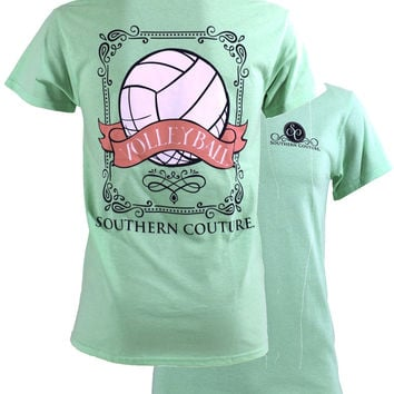 Southern Couture Preppy Vintage Volleyball Sports Girlie Bright T Shirt
