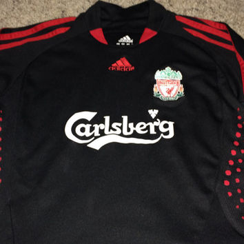 Sale!! Vintage Adidas LIVERPOOL Fc long sleeve Soccer Jersey LFC Football Shirt