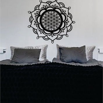 Mandala Flower of Life Sacred Geometry Decal Sticker Wall Vinyl Art
