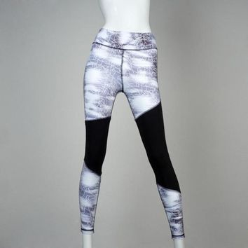 mokingtop Slim Jeggings Women Fitness Printed Stretchy Skinny Leggings Workout Cothes Mayas Mujer#1212