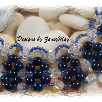 Ice Crystal Necklace, Beading Tutorial in PDF