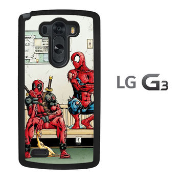 Funny Spiderman and Deadpool LG G3 Case
