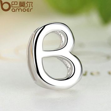 925 Sterling Silver Lovely BABY Letters Pendants & Necklace for Lover Girl DIY Jewelry SCN024-A
