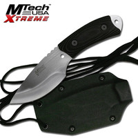 MTech Outdoor Survival Knife with Black Micarta Handle