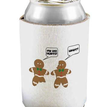 LMFUG7 Funny Gingerbread Conversation Christmas Can and Bottle Insulator Cooler