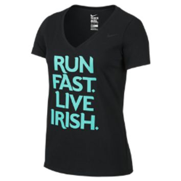 "Nike Shamrock Shuffle ""Run Fast Live Irish"" Women's T-Shirt"