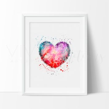 Heart 2 Watercolor Art Print