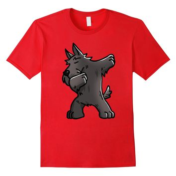 Dabbing Scottish Terrier Dog Funny T Shirts - Birthday Gifts