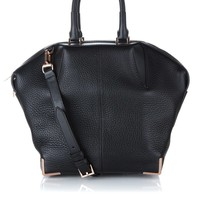 Black Leather Emilie Tote | Alexander Wang | Avenue32
