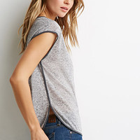 Speckled Slub Knit Blouse