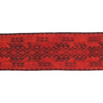 """2'11""""x10'9"""" Remus Kilim Runner, Red, Area Rugs"""