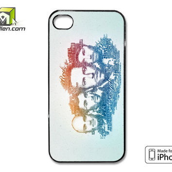 Coldplay Faces Lyrics Design iPhone 4 Case Cover by Avallen