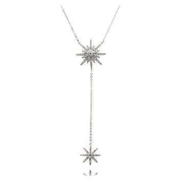 fashion starfish crystal necklace