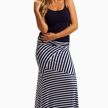 navy blue white striped maxi skirt from pinkblush maxed out