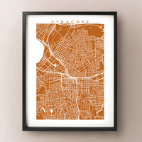 Syracuse Map Print - New York Poster