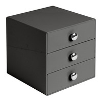 InterDesign 3 Drawer Storage Organizer for Cosmetics, Makeup, Beauty Products and Office Supplies, Slate Gray