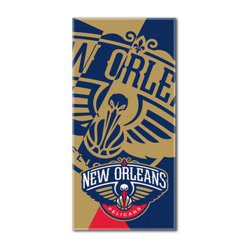 """Pelicans National Basketball League, """"""""Puzzle"""""""" 34""""""""x 72"""""""" Over-sized Beach Towel"""