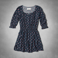 patterned peasant skater dress
