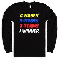 baseball or softball-Unisex Black T-Shirt