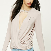 Ring Collar Surplice Top