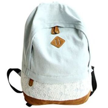 YYGIFT® Backpack with Lace/ Preppy Style Knapsack/ Casual Rucksack/ School Backpack